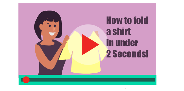 Video how-to guide showing how to fold a shirt