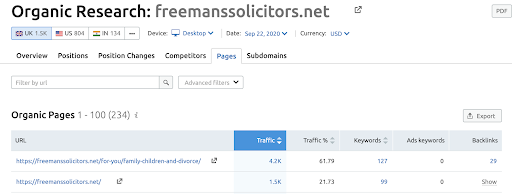 Freemans solicitors marketing legal firms content