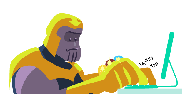 Image: Thanos as a writer