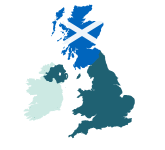 Marketing Psychology of the IndyRef2 Scottish independence vote - map featuring Scotland as independent from Britain
